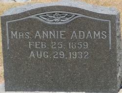 Permelia Ann <i>Burget</i> Adams