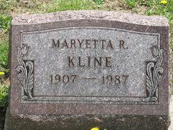 Maryetta Rebecca Mary <i>Nagel</i> Kline