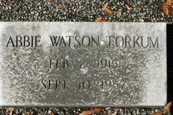 Abbie <i>Watson</i> Forkum