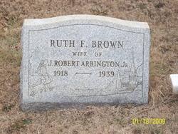 Ruth E <i>Brown</i> Arrington