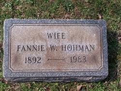 Fannie W Hohman