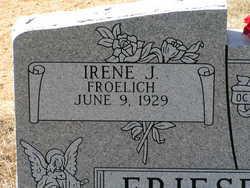 Irene J <i>Froelich</i> Friesenhahn