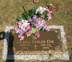 Deidra Ann DeeDee <i>Sadler</i> Coe