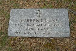 Sgt Warren E. Mays