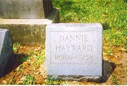 Nannie Elizabeth <i>Foster</i> Hayward