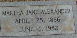 Martha Jane <i>Ferrell</i> Alexander
