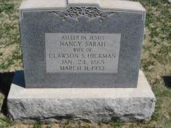 Nancy Sarah <i>Leatherwood</i> Hickman