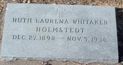 Ruth Laurena <i>Whitaker</i> Holmstedt