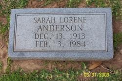 Sarah Lorene Anderson