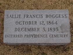 Sarah Elizabeth Sallie <i>Francis</i> Boggess