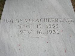 Talitha Hattie <i>McEachern</i> Babb