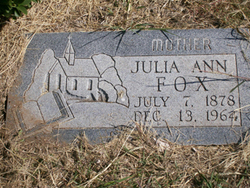 Julia Ann <i>Clements</i> Fox