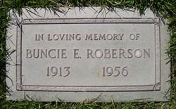 Buncie Elizabeth Bootzie <i>Spencer</i> Roberson