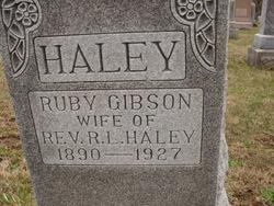 Ruby <i>Gibson</i> Haley