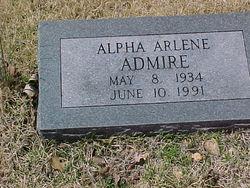 Alpha Arlene <i>McClendon</i> Admire