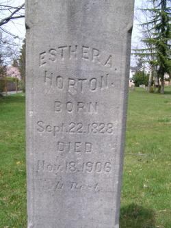 Esther A. <i>Cobb</i> Horton