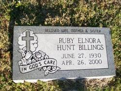 Ruby Elenora <i>Hunt</i> Billings