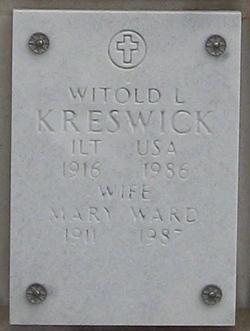 Mary <i>Ward</i> Kreswick