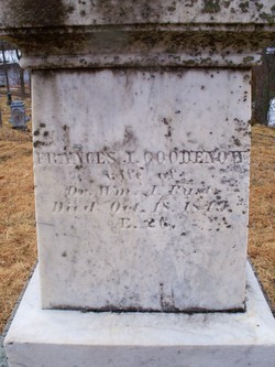 Frances Isabella <i>Goodenow</i> Rust