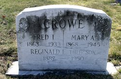 Mary A <i>Pengelly</i> Crowe