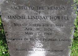 Mannie <i>Lindsay</i> Howell