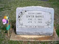 Lillian Carrie <i>Lewter</i> Barnes