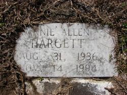 Annie Elizabeth <i>Allen</i> Hargett