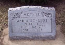 Maria <i>Schmidt</i> Balzer