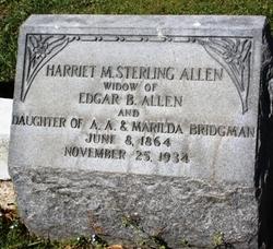 Harriet M <i>Bridgman</i> Allen