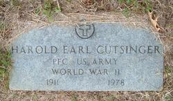 Harold Earl Cutsinger