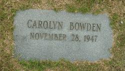 Carolyn Bowden