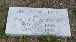 Bettie Mary <i>Crisp</i> Albritton