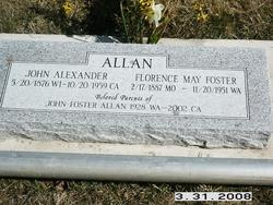 Florence May <i>Foster</i> Allan