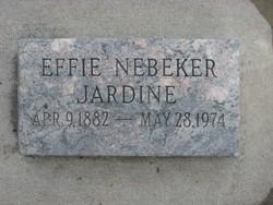 Effie <i>Nebeker</i> Jardine