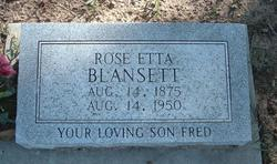 Rose Etta <i>Sanders</i> Blansett