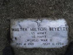 Walter Milton Shorty Beyette