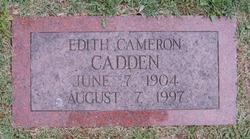 Edith <i>Cameron</i> Cadden