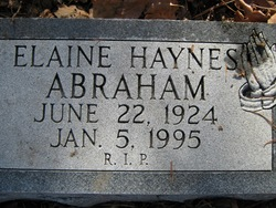 Elaine <i>Hayes</i> Abraham