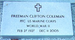 Freeman Clifton Cliff Coleman