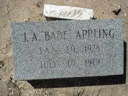 John Albert J.A./Babe Appling