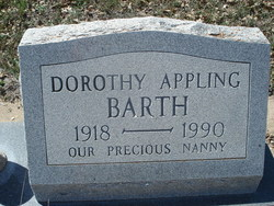 Dorothy Oretha <i>Brooks</i> Appling Barth