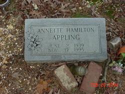 Annette <i>Hamilton</i> Appling