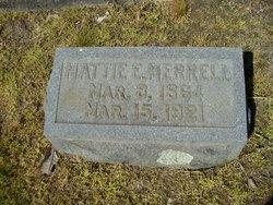 Martha E Mattie <i>Bryant</i> Merrell