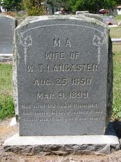 Martha Ann <i>Swain</i> Lancaster