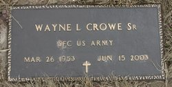 Wayne L Crowe, Sr