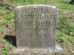 Charlotte Esther Lottie <i>Davis</i> Berney