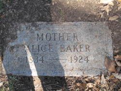 Alice <i>Myers</i> Baker