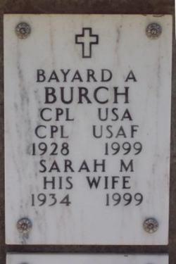Sarah M Burch