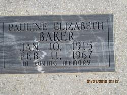Pauline Elizabeth <i>Dunn</i> Baker