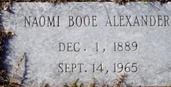 Naomi <i>Booe</i> Alexander